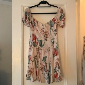 ASTR the label off shoulder floral dress
